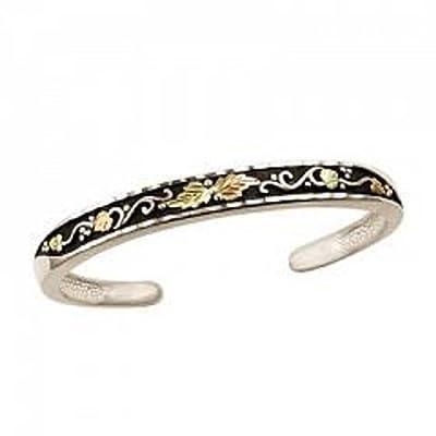 Black Hills Gold Antiqued Silver Bangle Bracelet supplies
