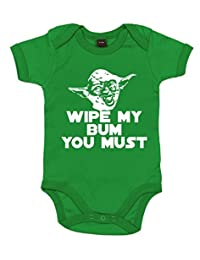 Dirty Fingers, Wipe my bum you must Yoda, Baby Unisex Bodysuit