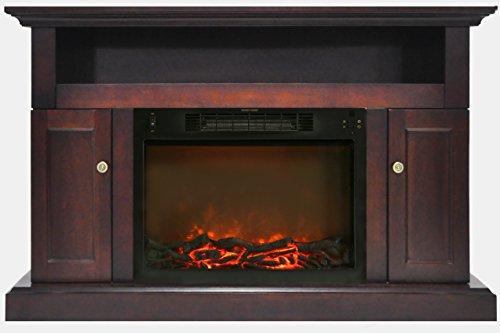 Mahogany Gel Fuel Fireplace (Cambridge Sorrento Fireplace Mantel with Electronic Fireplace Insert, Mahogany)
