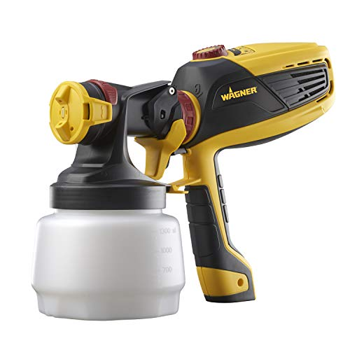 Wagner Spraytech 0529010 FLEXiO 590 Handheld HVLP Paint Sprayer Sprays Unthinned Latex Includes Two iSpray Detail Finish Nozzle Complete Adjustability for All Needs