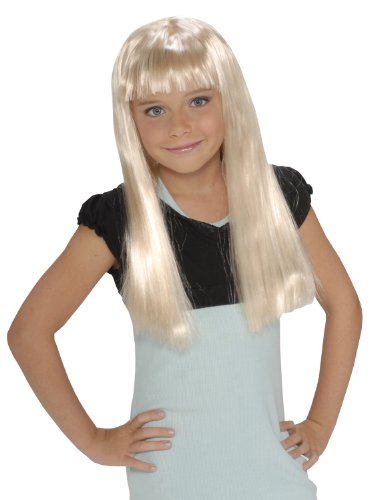 Child'S Rock Star Long Blonde Wig (Alice In Wonderland Childrens Costumes)