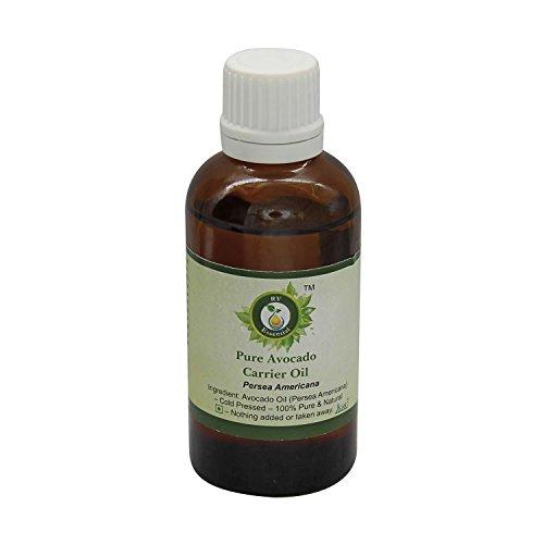 R V Essential Puro 50ml aguacate del aceite del portador (1.69 oz)- Persea Americana (100% pura y fría natural prensada)...