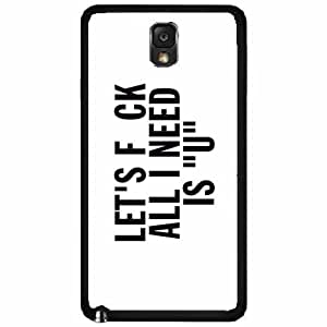 Let's Fuck - Plastic Phone Case Back Cover Samsung Galaxy Note III 3 N9002