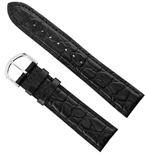 United Croco Grain Leather Watch Bands - Choice of Colors & Width - 12mm, 14mm, 16mm, 18mm, 20mm & 22mm Straps, for Men & Women - Includes 2 Spring - Grain Band Croco Watch