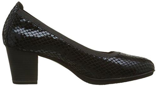 Tamaris 22436, Zapatos de Tacón para Mujer Negro (BLACK STRUCT. 006)