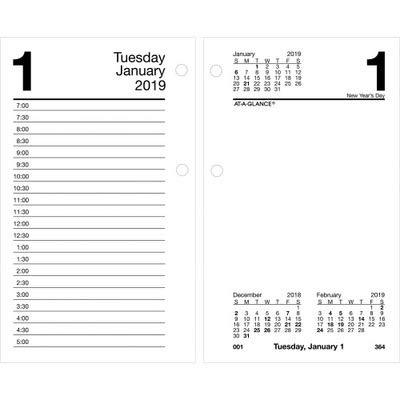 AAGE717R50 - At-a-Glance Recycled Desk Calendar Refill