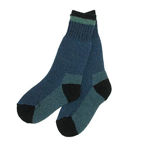 Clear Creek Boys Wool Hiking Socks (2 Pair Pack), Large, Blue