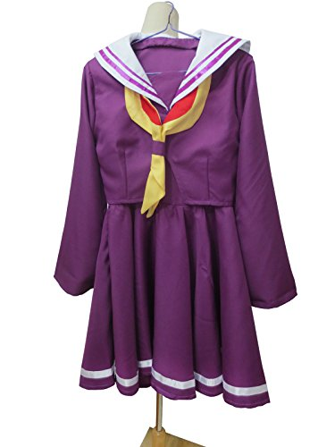 Xiao Wu No Game No Life Imanity Shiro Purple Sailor Uniform Dress Cosplay Costume