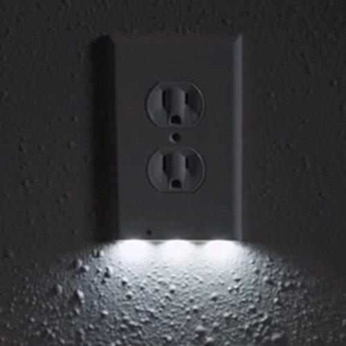 Face Light Switch (WensLTD LED Night Angel Light Wall Outlet Face Hallway Bedroom Bathroom Safty Light (A))
