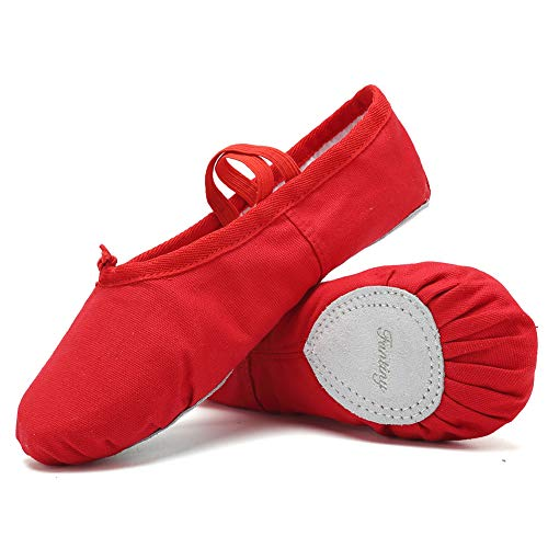 (Ballet Shoes Ballet Slippers Girls Ballet Flats Canvas Dance Shoes Yoga Shoes(Toddler/Little Kid/Big Kid/Women/Boy))