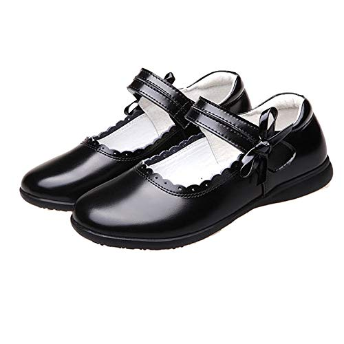 iFANS Girl's Oxford Leather School Uniform Dress Shoes (Toddler/Little Kid)