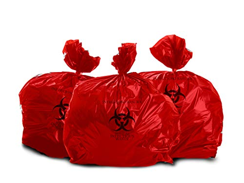 Oakridge Heavy Duty 40 Gallon Biohazard Waste Bags (Roll of 10) - Hospital Grade