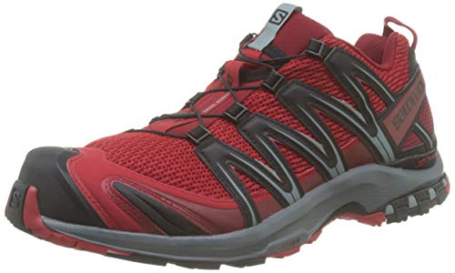 SALOMON Men's XA Pro 3D Trail Running Shoe (9.5 M US, Barbados Cherry/Stormy Weather/Black)