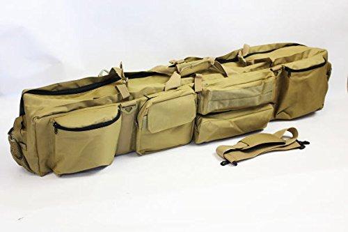 ガンケースW120サイズ ベージュ Wファスナー2本収納【JUEKO】MG-7616A YKKファスナー使用 B011KGOM4W
