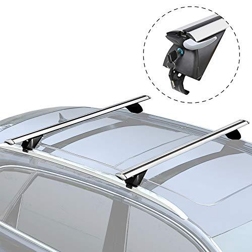 XCAR 2pcs Aluminum Airflow Roof Top Cross Bars Set 53