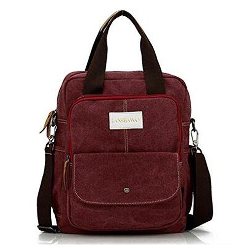 Limit Vintage Europa und Amerika Leinwand Handtasche in Frauen Schulter Umhängetasche casual Backpack Travel Rucksack Laptop-Tasche blau