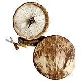 "Native American, Deer Hide / Walnut Stained, Frame Drum 10"""