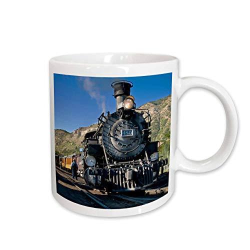 Railroad Photo Train Real (3dRose Durango and Silverton Narrow Guage Railroad, Trains, Ceramic Mug, 15-Oz)