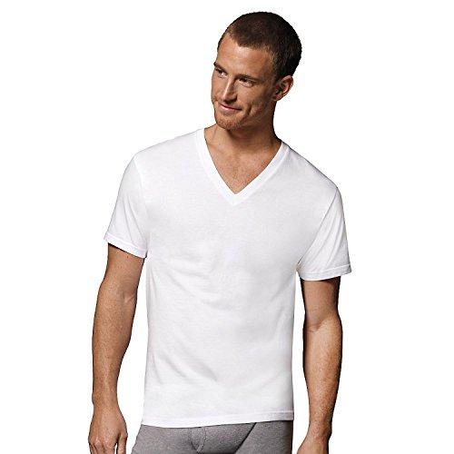 (Fruit of The Loom Men's V-Neck T-Shirt Multipack (Large, White (5 Pack)))