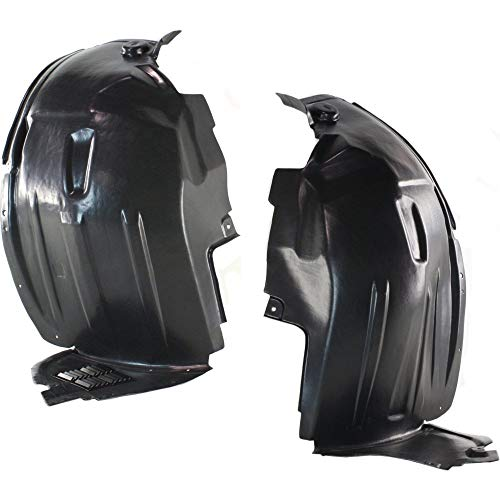 Splash Shield Front Left and Right Side Fender Liner Set of 2 Plastic Front Section for R-CLASS 06-10 (2008 Mercedes Benz R Class R350 4matic)
