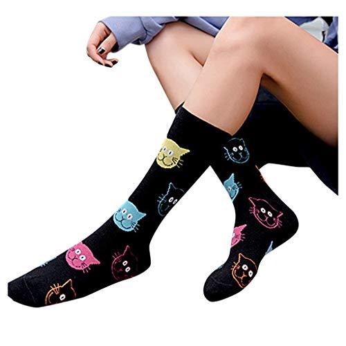 Womens Funny socks Cozy Cute Printed Fun Socks Novelty Cat Socks for Women Gifts