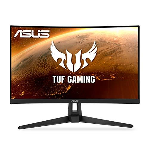 ASUS TUF Gaming 27″ 2K HDR Curved Monitor (VG27WQ1B) – WQHD (2560 x 1440), 165Hz (Supports 144Hz), 1ms, Extreme Low Motion Blur, Speaker, FreeSync Premium, VESA Mountable, DisplayPort, HDMI , BLACK