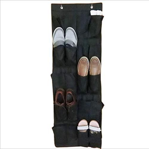 fahua 20 Taschen Vliesstoff Hängende Aufbewahrungstasche Türhalter Home Schuhe Organisationstasche mit Haken Space Saver Organizer-Schwarz