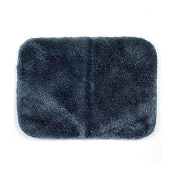 Amazoncom Royale Slate Blue Plush Nylon X Runner Bath - Bathroom rug runner 24x60 for bathroom decor ideas