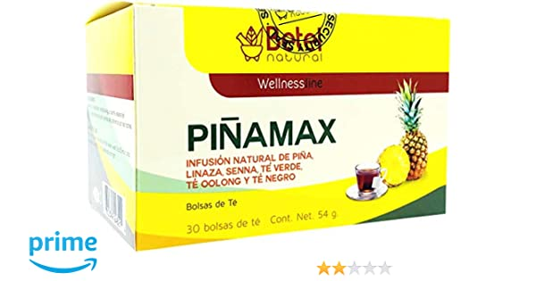 Pinamax Pineapple/Pina Tea by Betel Natural - Promotes Healthy Digestion and Metabolism - 30 Tea Bags