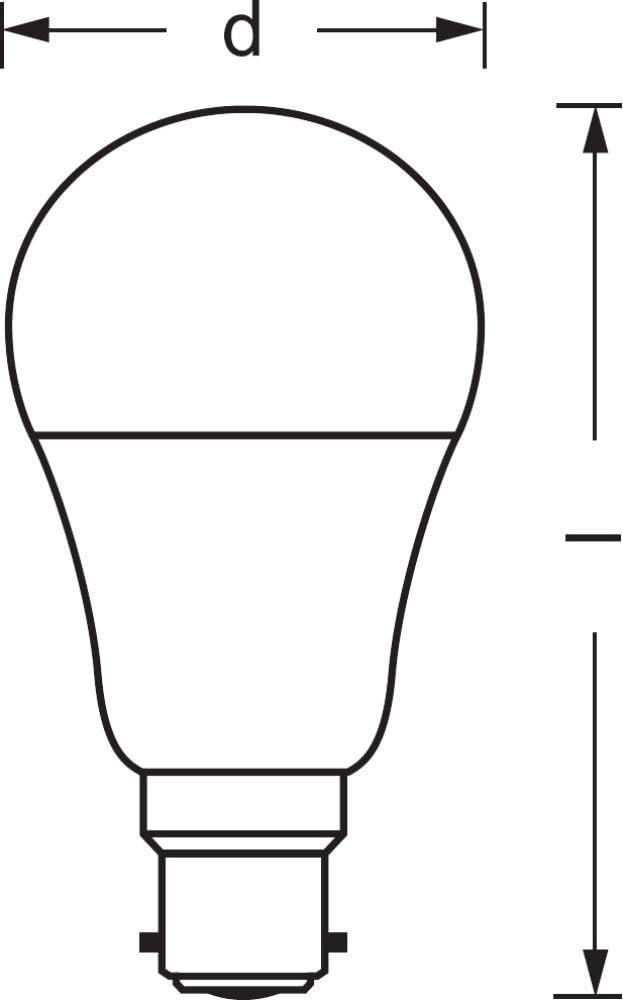 Dimmable Culot B22 LEDVANCE Smart+ Ampoule LED Connect/ée Pilotable avec Siri via Apple HomeKit 16 Millions de couleurs /équivalent 60W | Compatible Bluetooth Forme Standard 10W