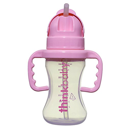 thinkbaby Thinkster Straw Bottle Pink product image