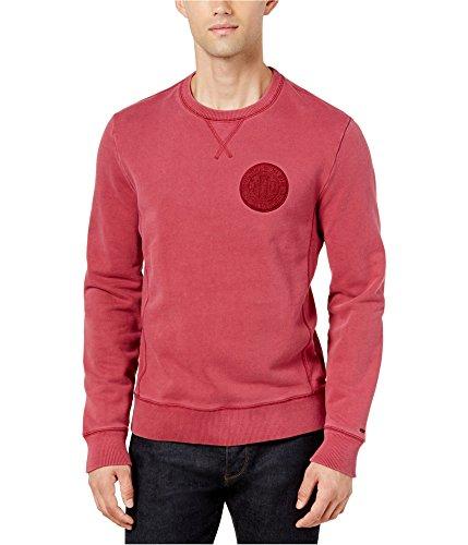 - Tommy Hilfiger Men's Patch-Logo Sweatshirt (Rhubarb, S)