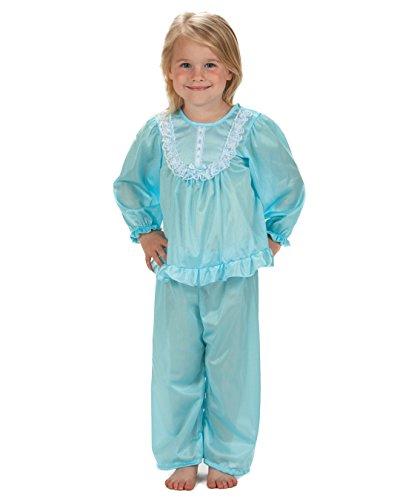 Laura Dare Big Girls Frozen Ice Blue Long Sleeve Traditional PJ Set, 10]()