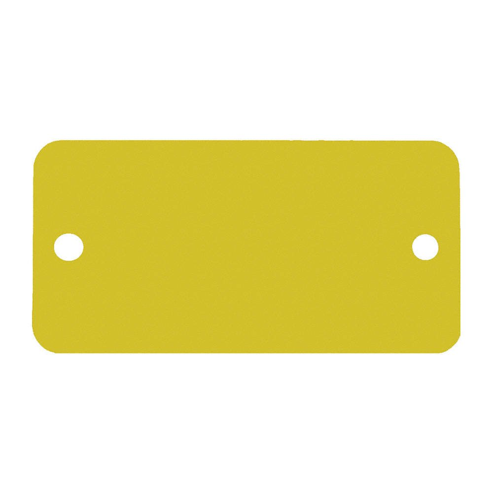 C.H. Hanson C H Hanson 1-1/2'' x 3'' Anodized Aluminum Gold Rectangle Blank Metal Tag with Rounded Corners - 5 pk.