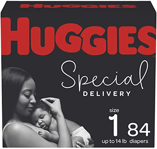 Hypoallergenic Baby Diapers Size 1, 84 Ct, Huggies Special Delivery