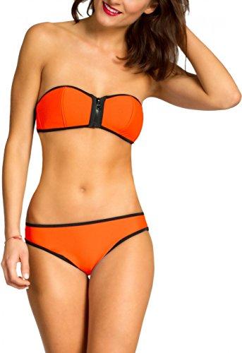 CASPAR BIK002 llevar Bikini de mujer naranja