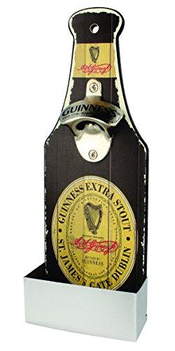 Guinness Nostalgic Mounted Bottle Opener and Cap Catcher - Label