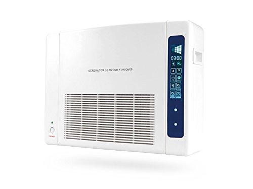 Ozono | Generador de Ozono Doméstico Digital Portátil Multifuncional | Purificador de Aire | Incluye Filtro Hepa | Filtra hasta un 99,95% de contaminación ...