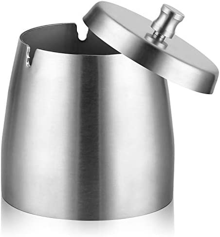 Ashtray Stainless Capacity Windproof Rainproof Thickened product image