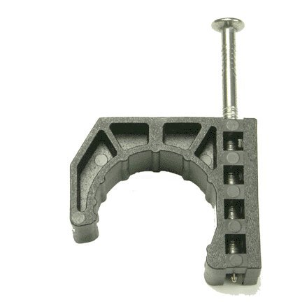 Half Clamp (Warwick Hanger 170-50 Half Clamps With Barbed Nail, Black, 1/2