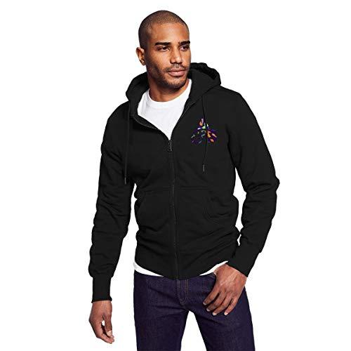 Rigg-hoodie Above-Beyond AB Logo Men Black Zip-up Hoodie Vintage Hooded Sweatshirt ()