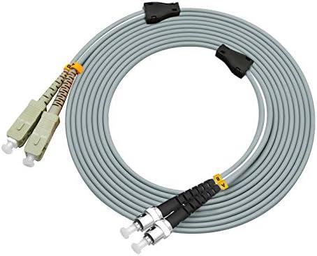 Jeirdus 150Meters SC to SC Indoor Armored Duplex 62.5//125 OM1 Fiber Optic Cable Jumper Optical Patch Cord Multimode 150M SC-SC