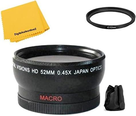2Pc Telephoto /& Wide Angle Kit for Panasonic HC-WX970 HC-VX870 HC-V770 HC-WX970M