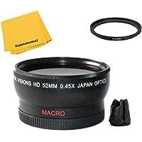 52mm Digital Vision Wide Angle Lens for Panasonic HC-WXF991K HC-VX981K HC-WX970 HC-X920 HC-X900 HC-VX870 HC-W850 HC-V770 HC-V750