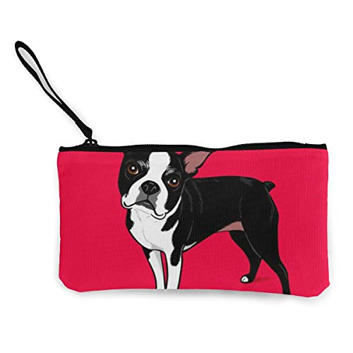 TLDRZD Boston Terrier Dog Cute Canvas Smartphone Wristlets Cash Coin Purses Make Up Bag Cellphone Clutch Purse with Wrist Strap - Gucci Leather Boston Bag