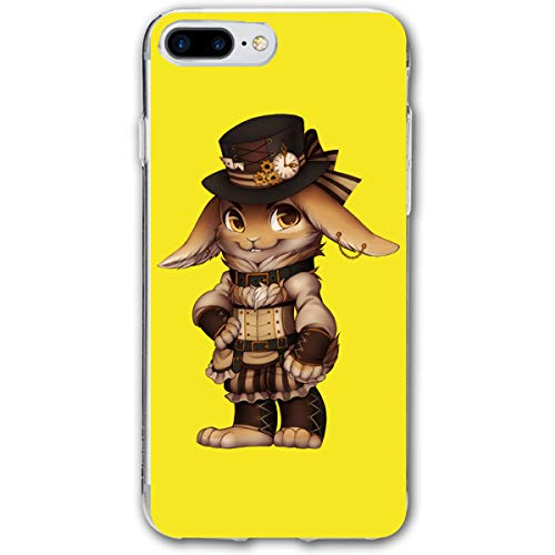 customgogo for iPhone 7 Plus Case, for iPhone 8 Plus Case, Steampunk Rabbit Ultra Thin Mobile Phone Cover Case Shell Shockproof Full-Body Protective Case Cover for iPhone 7 Plus /8 Plus 5.5