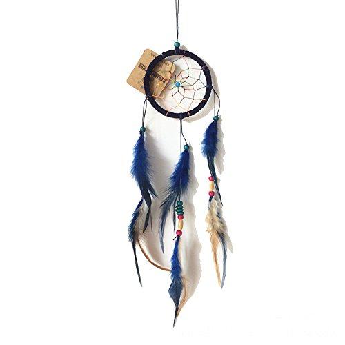 Navy Suncatcher (WCHUANG Lace Handmade Web Dream Catcher, Outdoor Home Wall Hanging Dreamcatcher, 9cm Diameter)