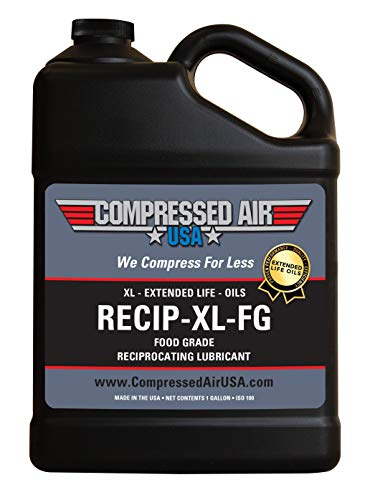 Food Grade 6000 Hour Reciprocating Air Compressor Lubricating Oil - CompressedAirUSA - XL - Extended Life Oils (1 Gallon)