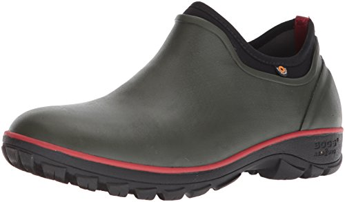 Bogs Men's Sauvie Slip On Soft Toe Rain Boot, Dark Green, 11 D(M) US