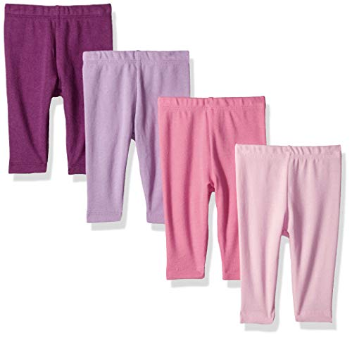 Pant Girls Knit - Hanes Ultimate Baby Flexy 4 Pack Knit Pants, Pink/Purple, 18-24 Months
